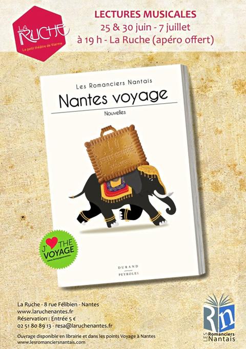 Voyage à Nantes - Romanciers Nantais - La Ruche le 30 Juin 2015